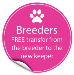 FREE pet MicroChip Transfer from breeder to new keeper